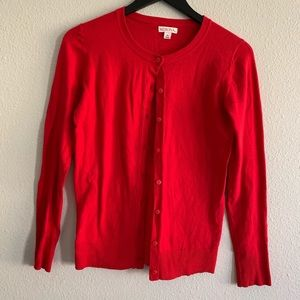 Merona Red Cardigan Sz XS